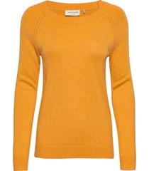 pullover ls stickad tröja orange rosemunde