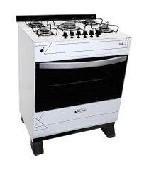 fogão clarice a gás 5 bocas branco com mesa branca