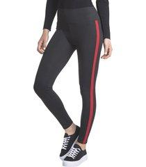 legging diseño negro-rojo caffarena
