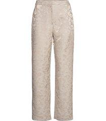 besara, 1099 viscose jacquard pantalon met rechte pijpen crème stine goya