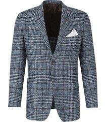 cashmere and silk checkered jacket