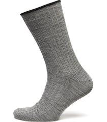 egtved, no elastic, rib, wool, underwear socks regular socks grå egtved