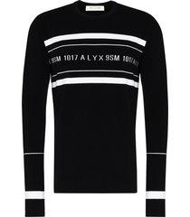 1017 alyx 9sm logo-intarsia crew-neck jumper - black