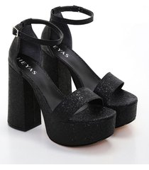 sandalia negra heyas christa13