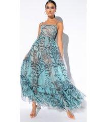 akira all around the world maxi tulle dress