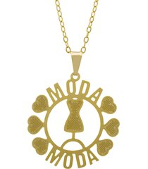 gargantilha horus import moda dourado
