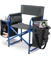 oniva by picnic time blue fusion backpack chair with cooler