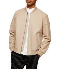 men's topman icon classic bomber jacket, size x-small - beige