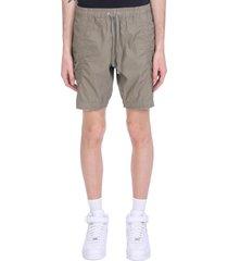 john elliott shorts in green cotton