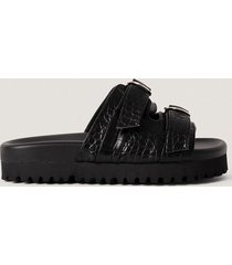 na-kd shoes chunky sandaler med dubbla spännen - black