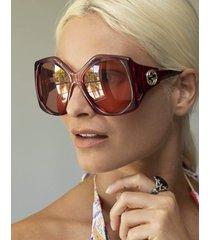 burgundy butterfly sunglasses