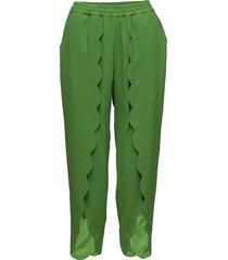 mattie scallop pants slimfit byxor stuprörsbyxor grön designers, remix