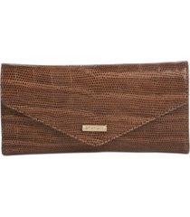 brahmin veronica embossed leather wallet