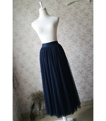 navy blue elastic waist tulle maxi skirt navy maxi bridesmaid skirt plus size