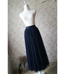 navy blue elastic waist tulle maxi skirt navy maxi bridesmaid skirt plus size