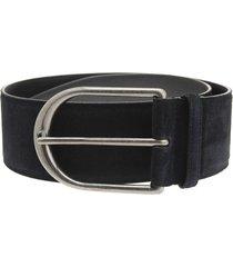 woman wide belt in black suede