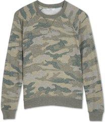 lucky brand cloud jersey camo-print sweatshirt