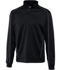cutter & buck men's big & tall drytec edge half zip sweatshirt
