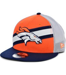 new era denver broncos diagonal trucker 9fifty cap