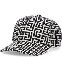 balmain baseball cap with monogram