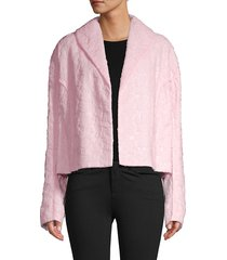 marni women's cropped jacket - light pink - size 38 (2)