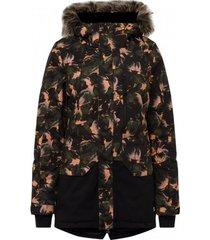 o'neill ski jas o'neill women zeolite jacket black aop yellow-xs