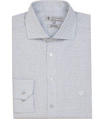 camisa dudalina manga longa tricoline fio tinto maquinetado xadrez masculina (roxo claro, 48)