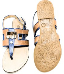 sandalia azul lolita/001163