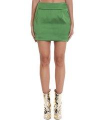 alexandre vauthier skirt in green viscose