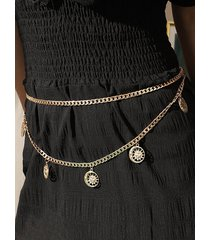 sun and moon hollow pendant waist chain