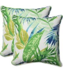 "soleil blue/green 18.5"" throw pillow, set of 2"