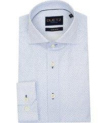 duetz1857 duetz 1857 overhemd dress print wit