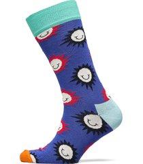 sunny smile sock underwear socks regular socks blå happy socks