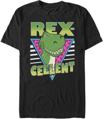 disney pixar men's toy story retro rex-cellet, short sleeve t-shirt
