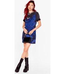 womens cowling you back tie dye mini dress - blue
