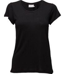 anna o-neck t-shirt t-shirts & tops short-sleeved svart kaffe