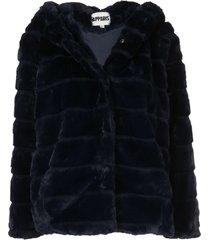 apparis goldie short faux-fur coat - blue
