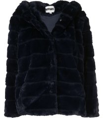 apparis goldie short faux-fur coat - blue