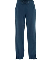 pantaloni in misto lino (blu) - bpc bonprix collection
