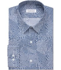calvin klein men's stain shield extreme slim-fit wrinkle-free stretch dress shirt