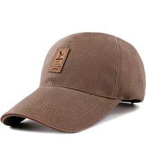 gorra golf ajustable # 2 - color marron logo marron