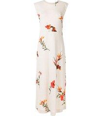 osklen hibiscus light long dress - neutrals
