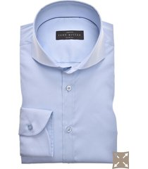 john miller overhemd stretch slim fit blauw