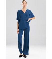 congo dolman pajamas, women's, blue, size s, n natori
