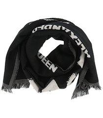 alexander mcqueen scarf oversize logo