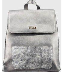 mochila urbana karol plata lilas carteras