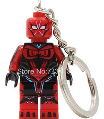 sa 1pc spiderman ends key chain ends of the earth silk minifigure building lego