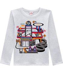 camiseta lavacar brandili cinza