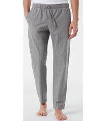 pantalone lungo in tela gessata