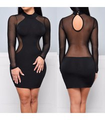 dress for women bandage bodycon full sleeve sexy party mini dresses